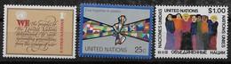 1978   NATIONS UNIES N° 283  285    Nf** .MNH . .Siège De New York - New York - Sede De La Organización De Las NU