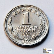 Yugoslavia - 1 Dinar - 1968 - Yugoslavia