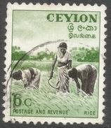 Ceylon. 1951-54 Definitives, 6c Used. SG 421 - Sri Lanka (Ceylon) (1948-...)