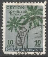 Ceylon. 1951-54 Definitives, 10c Used. SG 422 - Sri Lanka (Ceylon) (1948-...)