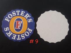 1 X Singapore Beer Mat Coaster -  Foster's Beer Bottle Cap Shape (#9) - Beer Mats
