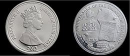 GIBRALTAR £3 THREE POUND COIN 2013 BRITISH TREATY OF UTRECHT THE NETHERLANDS UNC - Gibraltar