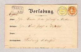 Schweiz Stehende 20Rp WZ15Rp 6.9.1889 WOLFLINSWYL (Aargau) Auf Chargé Vorladung - 1882-1906 Armoiries, Helvetia Debout & UPU