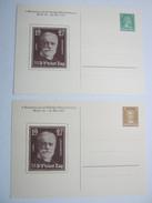 1927 , 2 Privatganzsachen Unverschickt - Ganzsachen