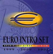 Belgique 1999 / 2000 / 2001 : Coffret BU Contenant Les 8 Pièces De Chaque Année (= 24 Pièces) - Belgium