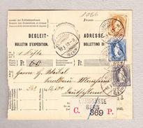 Schweiz Stehende 40 (#69C), 50Rp 3Fr Langgasse 18.1.1893 (Bern) Begleit-Adresse Nach Mannheim D - 1882-1906 Armoiries, Helvetia Debout & UPU
