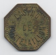 Ancien Jeton De Casino De Chatelaillon Octogonal En Laiton (30mm X 30mm) - Casino