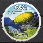 Korea 1. Runde Zeppelinmarke LZ 129 Hindenburg **/MNH - Zeppelin