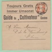 S.20 Entier Postal Bande Journal Complète  Guide Du Cultivateur  Genève 30.1.20 - Stamped Stationery