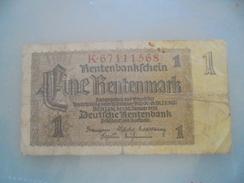 BILLET UN Rentenmark - [ 4] 1933-1945 : Third Reich