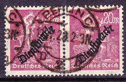 Deutsches Reich German Empire Empire Allemand - Dienstmarke/Service (Mi.Nr. 75) Im Paar 1923 - Gest. Used Obl. - GEPRÜFT - Dienstpost