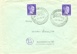 Dt. Reich 785 MEF Portogenau Auf Fern- Brief Von Gammertingen 1945 N. Neustadt (Orla) - Briefe U. Dokumente