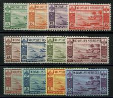 Nouvelle Hebrides (1938) N 100 AÌ€ 111 * (charniere) - Légende Française