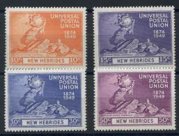 Nouvelle Hebrides (1949) N 136 AÌ€ 139 * (charniere) - Légende Française