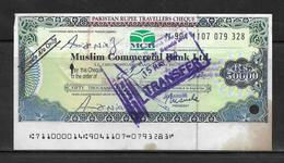 2002, PAKISTAN RUPEE TRAVELLERS CHEQUE.MUSLIM COMMERCIAL BANK LIMITED.RUPEES 50,000 - Coins & Banknotes