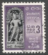 Ceylon. 1958-62 Definitives. Redrawn Inscriptions, 3c Used. SG 449 - Sri Lanka (Ceylon) (1948-...)