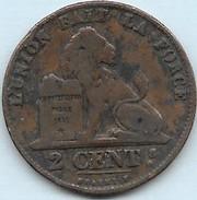 2 Centimes Cuivre Léopold I  1857 - 1831-1865: Leopold I