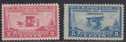 USA 1927 AeronautiCs ConfereNce Set 2v.MNH SC 649-50 YV 279-80 MI 314-15 SG 652-53 - United States