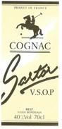 """étiquette  Cognac Sartor VSOP Best Bordeaux """"cheval Polo"""" - Etiquettes"""