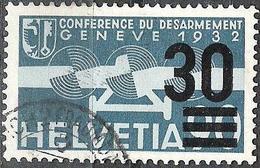 """Aufdruck """"30"""" Von 1936: Zu Flug 23 Mi 292 Yv PA23 Mit O ZÜRICH-FRAUMÜNSTER (Zu CHF 25.00)"""
