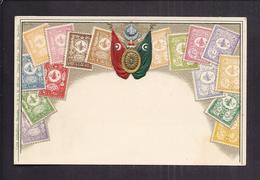 Superbe CPA Gaufrée TURQUIE - Représentation De Timbre S Armes Drapeau Blason - Turquie