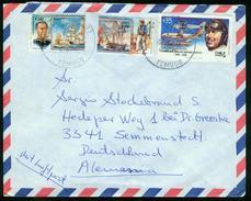 BR Chile, Temuco - 1988 Luftpost Brief Nach BRD, Semmenstedt - Chile