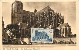 LE MANS - La Cathédrale Saint Julien, Carte Maximum. - Le Mans