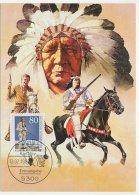 Maximum Card Germany 1987 Indian - Karl May