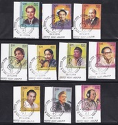 INDIA, 2016, FIRST DAY CANCELLED, Legendary Singers Of India, Set 10 V,