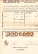 Schweiz Stehende 7 Stück 3Fr. Neuchatel 30.4.1898 Postverwaltung Bordereau - 1882-1906 Stemmi, Helvetia Verticalmente & UPU