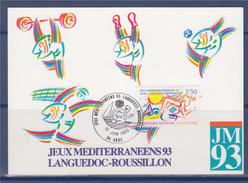 = Jeux Méditerranéens 1993 Languedoc-Roussillon Carte Postale 34 Agde 16.6.93 N°2795 - Marcofilie (Brieven)