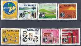 1964 NICARAGUA    PA 506-13 ** Progrès, Croix-rouge, école, Agriculture, Dent Courte 512 - Nicaragua