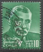 Ceylon. 1964-72 Definitives. 10c (large Head) Used. SG 487 - Sri Lanka (Ceylon) (1948-...)