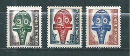Polynésie  Timbre Taxes De 1958  N°1 A 3  Neuf  ** - Timbres-taxe