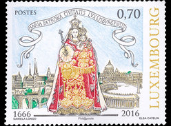 LUXEMBOURG 2016 350 Years Since The Virgin Mary Was Elected Patroness Of The City Of Luxembourg