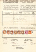 Schweiz Stehende 20Rp, 1Fr, 3Fr. (6) Bienne 31.1.1898 Auf Postverwaltung Bordereau - 1882-1906 Armoiries, Helvetia Debout & UPU