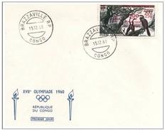 CONGO - 15 12 1960 FDC OLIMPIADI ROMA