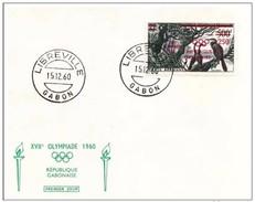 GABON - 15 12 1960 FDC OLIMPIADI ROMA