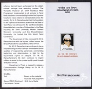 INDIA, 2017, BROCHURE WITH INFORMATION, FOLDER, M G Ramachandran, Actor, Politician,