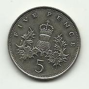 1988 - Gran Bretagna 5 Pence, - 5 Pence & 5 New Pence