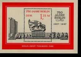 DDR Block 89 Berlin Ernst Thälmann Denkmal Postfrisch MNH *** - DDR