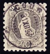 Schweiz Stehende 40 Rp Mi # 61XB Gestempelt 20.11.1889 Attest Marchand (bitte Lesen) - 1882-1906 Armoiries, Helvetia Debout & UPU