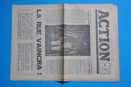 EVENEMENTS MAI 1968 - ACTION N° 2 Du 13 MAI 1968 (document Original) - Historische Dokumente