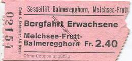Schweiz - Sessellift Balmeregghorn Melchsee Frutt - Fahrschein - Bahn