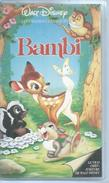 """VHS / K7 Vidéo  """" BAMBI """"   WALT DISNEY - Dessins Animés"""