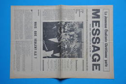 EVENEMENTS MAI 1968 - MESSAGE Du 15 MAI 1968  LA JEUNESSE ETUDIANTE CHRETIENNE PARLE (document Original) - Historische Dokumente