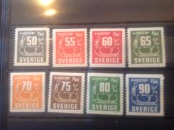 Sweden 1954-7 Rock Cravings Mint SG 347-54