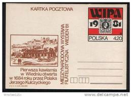 Poland Pologne. Wien Vienna WIPA 1981. First Café In Vienna By Polish J. Kulczycki (1684).