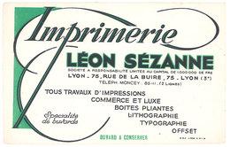 Buvard Imprimerie Léon Sézanne, Lyon, Tout Travaux D'impressions ... - Buvards, Protège-cahiers Illustrés