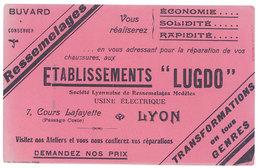 Buvard Etablissements Lugdo, Lyon, Ressemelages - Buvards, Protège-cahiers Illustrés